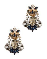 Anton Heunis | Blue Janelle Swarovski Crystal Drop Earrings | Lyst