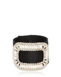 Roger Vivier - Black Pilgrim Silk Satin Bracelet - Lyst