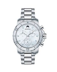 Movado - Metallic 'series 800' Diamond Index Chronograph Bracelet Watch - Lyst
