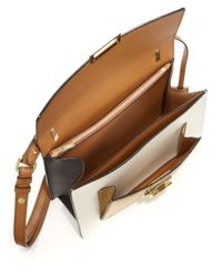 Ferragamo - Brown Marisol Small Metallic Multicolor Leather Crossbody Bag - Lyst