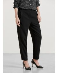 Violeta by Mango | Black Baggy Trousers | Lyst