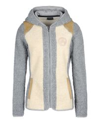 Napapijri | Gray Hooded Fleece Jacket  | Lyst