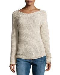 Halston | Multicolor Textured Knit Raglan Sweater | Lyst