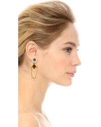 DANNIJO | Metallic Nadia Earrings - Gold/Italian Olivine | Lyst