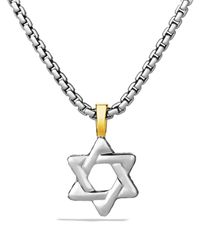 David Yurman | Metallic Cable Classics Star Of David Cross With Gold On Chain, 20"