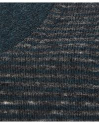 Paul Smith - Blue Teal Melange Striped Cotton T-shirt for Men - Lyst