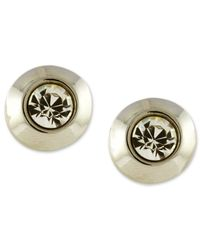 Vince Camuto | Metallic Silver-tone Crystal Stud Earrings | Lyst
