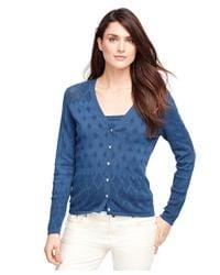Brooks Brothers | Blue Supima® Cotton Cardigan | Lyst