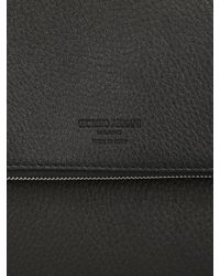 Giorgio Armani - Black Exclusive Limited Grained Leather Bag for Men - Lyst