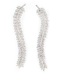 Joanna Laura Constantine | Metallic Leaf Earrings | Lyst