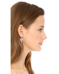 Deepa Gurnani - White Crystal Petal Earrings Ivory - Lyst