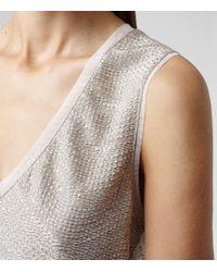 Reiss | Ona Metallic Fluid Metallic Vest | Lyst