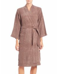 Natori | Brown Knit Wrap Robe | Lyst