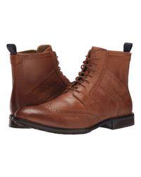 Sebago Brown Dresden Wing Tip Boot for men