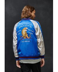 Stussy | Blue Souvenir Tour Jacket for Men | Lyst