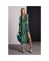 Michael Kors - Green Printed Silk Skirt - Lyst