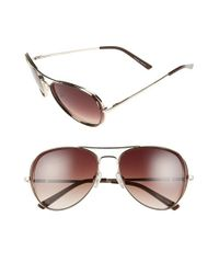 Kensie | Metallic 'hollyn' 60mm Polarized Aviator Sunglasses for Men | Lyst