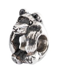 Trollbeads | Metallic Sterling Silver Little Bear Charm | Lyst