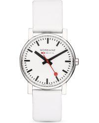 Mondaine - White A6583030011sbn Evo Leather Watch - Lyst