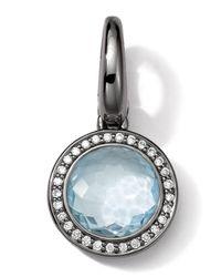 Ippolita | Black Sterling Silver Light Blue Topaz & Diamond Lollipop Charm | Lyst