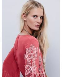 Free People | Red Womens Kelimutu Romper | Lyst