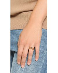 Wouters & Hendrix | Metallic Stacked Garnet Ring - Gold/garnet | Lyst
