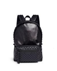 Alexander McQueen | Black Rubber Stud Coated Canvas Backpack for Men | Lyst