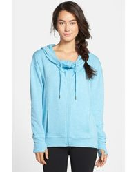 Zella | Blue 'free And Easy' Hooded Sweatshirt | Lyst