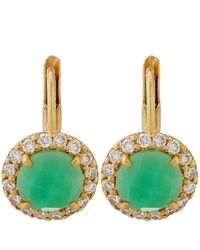 Jamie Wolf | Gold Green Chrysoprase And Diamond Scallop Earrings | Lyst