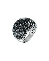 John Hardy | Metallic Bedeg Silver Lava Sapphire Dome Ring | Lyst