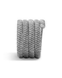 John Hardy | Metallic Classic Chain Multiple Coil Bracelet With Diamonds | Lyst