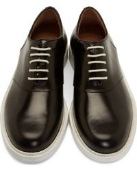 Band of Outsiders - Black And White Leather Derby Shoes for Men - Lyst