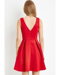 Forever 21 | Red Pleated A-line Dress | Lyst