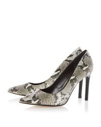 Dune - Gray Azaleah Metal Toe Detail Court Shoes - Lyst