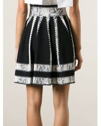 Alexander McQueen | Black Quilted Chenille Mini Skirt | Lyst