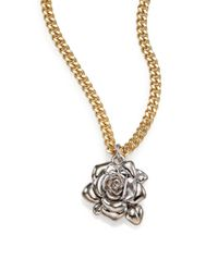 Marc By Marc Jacobs | Metallic Jerrie Rose Pendant Necklace | Lyst