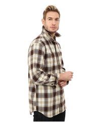 Carhartt | Brown Trumbull Plaid Long Sleeve Shirt for Men | Lyst