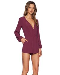 Lovers + Friends | Purple Monday To Friday Romper | Lyst