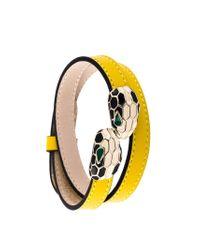BVLGARI - Yellow 'serpenti Forever' Bracelet - Lyst