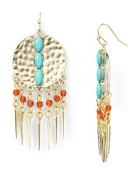 Aqua | Metallic Jenixie Chandelier Earrings | Lyst