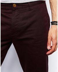 ASOS - Purple Straight Chinos for Men - Lyst