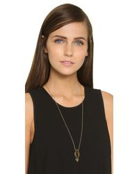 Gorjana | Metallic Alejo Pendant Necklace - Gold | Lyst