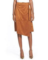 Glamorous | Brown Faux Suede Skirt | Lyst