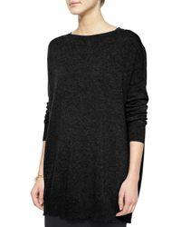 Eileen Fisher | Black Fine Gauge Cashmere Long Tunic | Lyst