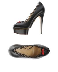 Charlotte Olympia - Black Court - Lyst