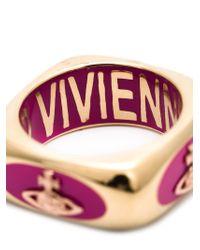 Vivienne Westwood | Pink Orb Logo Ring | Lyst