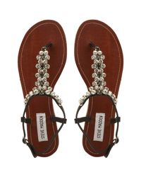 Steve Madden - Black Sidonie Jewel Embellished Sandals - Lyst