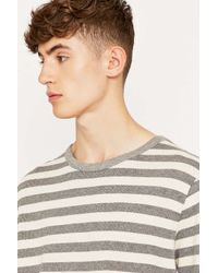 Urban Outfitters | Gray Benny Ecru And Grey Waffle Knit Shirt for Men | Lyst