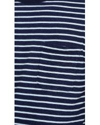 Apolis - Blue Striped Pocket T-Shirt for Men - Lyst