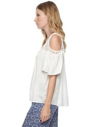 Ella Moss | Natural Noa Cold Shoulder Top | Lyst
